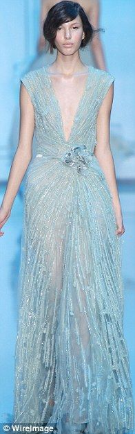 Elie Saab Fall-Winter 2011/12 collection at Couture week in Paris at Palais de Chaillot