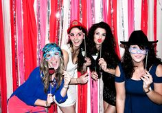 New Years glitter photo booth props // via Etsy Crepe Paper Backdrop, Ribbon Backdrop, Streamer Backdrop, Diy Photo Booth, Photo Booths, Photo Props, Healthy Vegetarian Diet, Crockpot Spaghetti And Meatballs, One Dish Dinners
