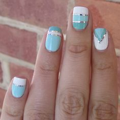 Geometric Turquoise Striping Tape Designs