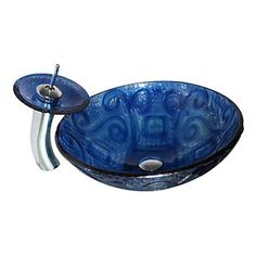 4247 Tempered Glass Vessel Round Sink With Pop-Up Drain and Mounting Ring and Waterfall Faucet Zischen http://www.amazon.com/dp/B00O1R9PBS/ref=cm_sw_r_pi_dp_fHczub0J9JTBJ
