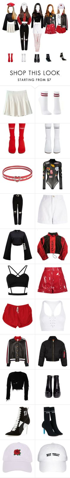 """""""music video no. 6"""" by taekook-junghyung ❤ liked on Polyvore featuring Charlotte Russe, Vetements, GCDS, River Island, Puma, Versace, Valentino, Lorna Jane, Gucci and Yeezy by Kanye West"""