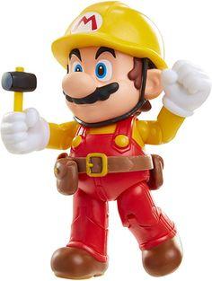 World of Nintendo Maker Mario with Utility Belt Toy Figure Mario Action Figures, Super Mario Toys, Secret Power, Nintendo Switch Games, Lego House, Son Love, 7 Year Olds, Mario Bros, Retro