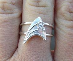 Star Trek engagement ring.