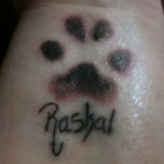 real dog paw print tattoos   my dog. That is his real paw print! Done my artists at Flatts Tattoo ...