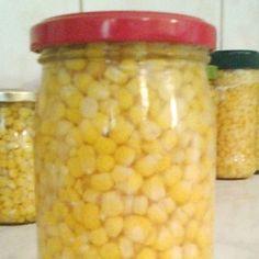 Főtt kukorica télire üvegben Soup, Meat, Vegetables, Vegetable Recipes, Soups, Veggies