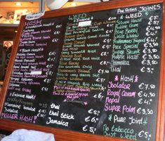 Coffee Shop Menu ~ Amsterdam, Netherlands