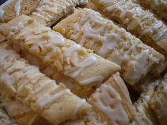 My MIL makes these. Incredible. Scandinavian Almond Bar cookie recipe   writes4food.com