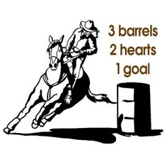 Horse-Horse decal-Barrel racer horse-Horse quote sticker-Horse wall decor-22 X 28 inches