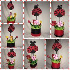 Ladybug party centerpiece  by partycenterpiece on Etsy