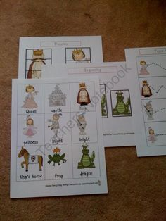 Princess and Knight Printable from Fun Printables for Preschoolers on TeachersNotebook.com (11 pages)