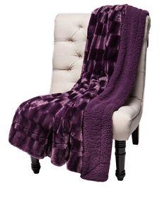 Super Soft Fuzzy Fur Rectangular Embosed Warm Sherpa Throw Blanket