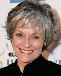 Short Hairstyles for Grey Hair - Greying hair can be just as stylish as colored locks, but it's all about a flattering cut. Description from pinterest.com. I searched for this on bing.com/images
