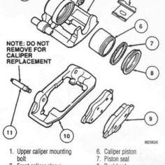 Mustang Caliper Rebuild Tear Down Diagram Ford Explorer Sport, Tear Down, Mustang, Diagram, Mustangs, Mustang Cars