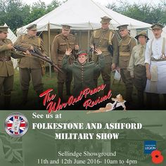 See us this weekend at The Folkstone and Ashford Military Show. Sellindge Showground. 11th- 12th June 2016. 10am to 4pm #military #history #vintage #exhibitors #traders #stalls #ww1 #ww2 #militaryvehicles #display #Britain #tanks #motorcycle #reenactment #flying #family #event #warandpeacerevival