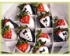 fresas con chocolate :)