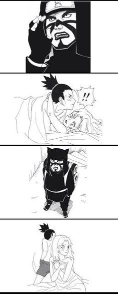 Shikamaru and Temari fan comic. Page 4.