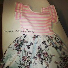 Valentine dress! Girls knit Dress,Toddler spring Dress,Baby Valentine's Day Outfit,Pink rosses,Easter Dress,