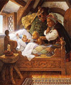 Goldilocks And The Three Bears by Scott Gustafson ~ children's fairytales