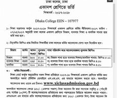 Dhaka College HSC Admission 2017
