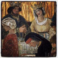 Jane Morris pre raphaelite Muse: Wedding Feast by Burne Jones