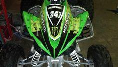 Yamaha YFZ 450 Monster Energy atv graphics kit. By