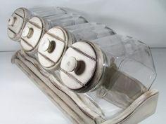 Vintage Glass Canister Set