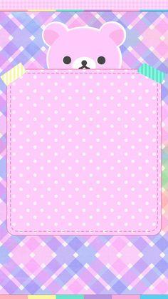 Purple Polka Dots Bear Wallpaper