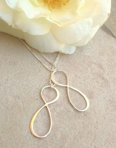 infinity necklace sterling silver mother daughter by natashaaloha, $75.00