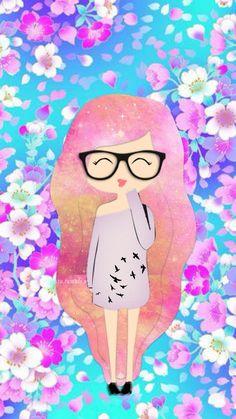 wallpaper for phone-iphone-cute girl