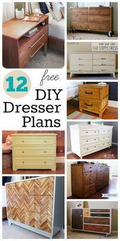 12 Free Diy Dresser Plans