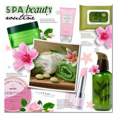 """SPA Routine ~ Korean Beauty YESSTYLE Contest"" by alexandrazeres ❤ liked on Polyvore featuring beauty, Missha, Lirikos, Beauty, korean and yesstyle"