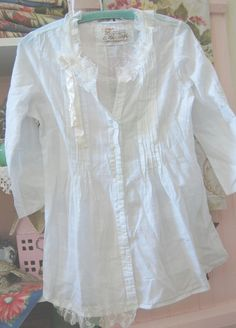 Shabby Chic Altered Clothing.....Love white blouses, t-shirts ect.