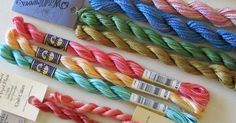 Threads for embroidery are available in a wide range of fibers, colors, types and weights. Your choice of threads will depend on the type of fabric used, the fa | See more about Embroidery Thread and Embroidery.