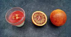 Panna cotta aux oranges sanguines Panna Cotta, Orange Sanguine, Menu, Grapefruit, Food, Menu Board Design, Dulce De Leche, Meal, Eten