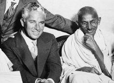...when Charlie Chaplin met Gandhi 1931
