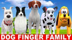 Dog Family Singing Nursery Rhymes - Finger Family Song - Children Nurser...