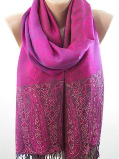 Items similar to Paisley Pashmina Scarf Women Gift Festival Pashmina Shawl - Winter Accessories Winter Scarves For Women christmas gift for her cyber monday on Etsy How To Wear Pashmina, Pashmina Shawl, Paisley, Polka Dot Scarf, Purple Scarves, Unique Gifts For Women, Over 50 Womens Fashion, Christmas Gifts For Women, Scarf Design