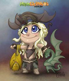 Game of thrones - Khaleesi Game Of Thrones Cartoon, Arte Game Of Thrones, Game Of Thrones Khaleesi, Daenerys Targaryen, Game Of Thorns, Fanart, Dragon Games, Princess Drawings, Little Dragon