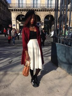 # HOMEMADE-DIY # Manteau, blouson - # VINTAGE # Jupe - EPISODE VINTAGE Sacs, sacoches -  EPISODE VINTAGE Chapeau - ADIDAS Baskets, sneakers   #women #mode #look #streetstyle http://www.moodlook.com/look/2014-03-20-france-paris-14
