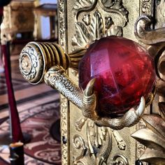 A doorknob in The Hermitage Museum, Saint Petersburg, Russia