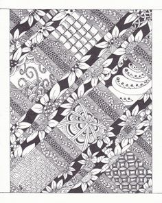 very intricate Zentangle