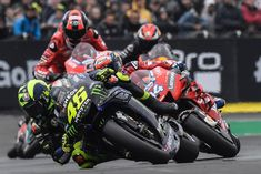 There are now two races in the MotoGP: Marquez against himself and then everyone else's. In the first race, Valentino came out hopelessly defeated (and he' Motorcycle Racers, Racing Motorcycles, Rossi Gp, Ducati, Yamaha, Valentino Rossi 46, Super Bikes, Bike Life, Vr46