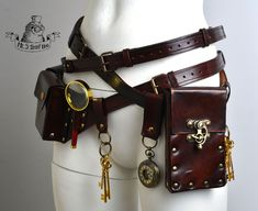 Ultimate steampunk bags and belts kit. - Ultimate steampunk bags and belts kit. Steampunk Belt, Steampunk Outfits, Steampunk Clothing, Steampunk Fashion, Gothic Steampunk, Steampunk Necklace, Victorian Gothic, Gothic Fashion, Renaissance Clothing