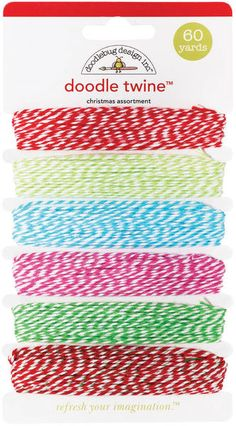 Doodle Twine Assortment Pack-Christmas: Add dimension to any project with Doodlebugs Doodle Twine.