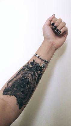 Nina. #dog #tattoo #chowchow #dogtattoo #arm