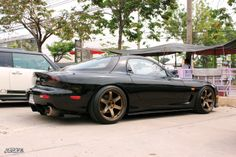 Cool in black #Slammed #Mazda #RX7