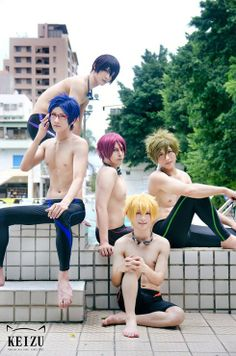 Such beauty...magnificent and amazing!! Free! - Haru, Rei, Rin, Makoto and Nagisa