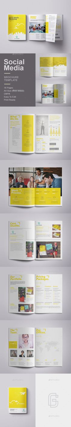 social media brochure template - youth program newsletter template by stocklayouts