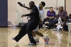 Michael Jordan Works Out With the Bobcats