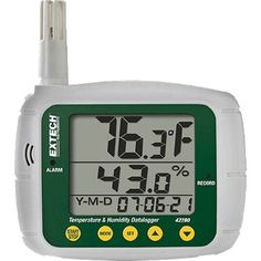 View larger Temperature and Humidity Datalogger The Extech 42280 is a wall-mount, tripod mount, or desktop indoor air quality monitor with an internal memory capable of storing readings Relative Humidity, Light Meter, Electronic Recycling, Sub Brands, Temperature And Humidity, Digital Thermometer, Kids Online, Sd Card, Instruments